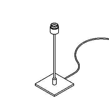 Drawing of 999.250/.. - VOGUE, tafellamp - zonder lampenkap -  met schakelaar + snoer