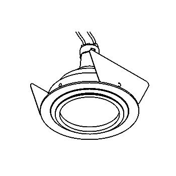 Drawing of AQUANODOTIP44/.. - Ø80, inbouwspot - rond - vast - zonder transfo