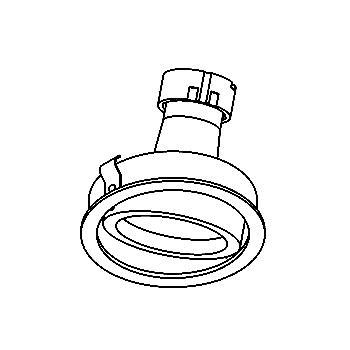 Drawing of CASCAMBIOC/.. - Ø80 SYSTEM, inbouwcassette - rond - richtbaar