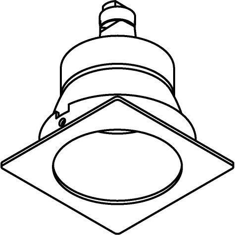 Drawing of CASCINTO.DICRO/.. - SCS SYSTEM, inbouwcassette - vast - zonder transfo