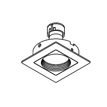 Drawing of CASCONGA.ES50/.. - SCS SYSTEM, cassette encastrable - carré - fixe