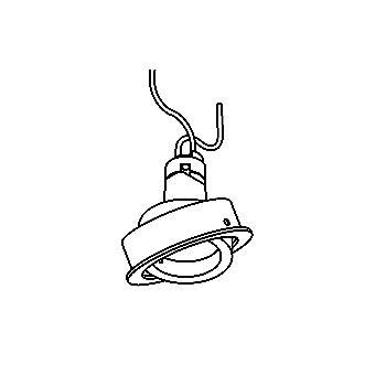 Drawing of CASDIVA35/.. - Ø65 SYSTEM, inbouwcassette - rond - richtbaar - zonder transfo