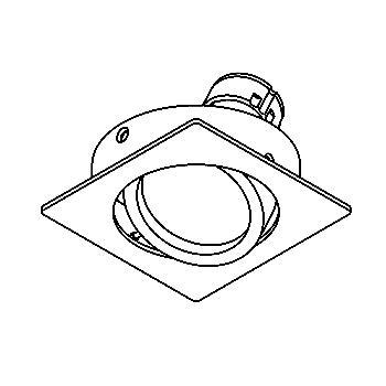 Drawing of CASLIMBO.ES50/.. - SCS SYSTEM, inbouwcassette - vierkant - richtbaar