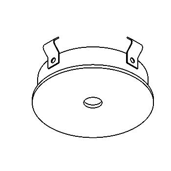 Drawing of CASONO/.. - Ø70 SYSTEM, inbouwcassette voor spot of pendel - rond - zonder transfo