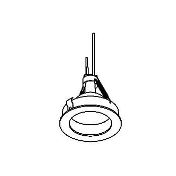 Drawing of CASPDOWNC/.. - Ø80 SYSTEM, inbouwcassette - rond - vast - zonder transfo