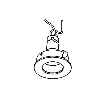 Drawing of CASPICODWN35/.. - Ø65 SYSTEM, inbouwcassette - rond - vast - zonder transfo