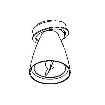 Drawing of CASPOLKA.AR70/.. - Ø80 SYSTEM, inbouwcassette - rond - richtbaar - kelk Ø78 H95 - zonder transfo