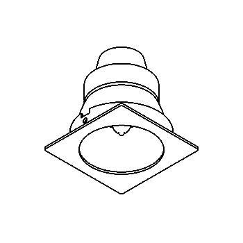 Drawing of CASTINTO.G9/.. - SCS SYSTEM, inbouwcassette - vierkant - vast