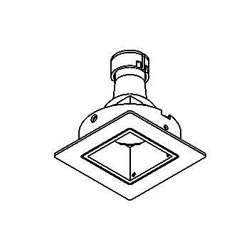 Drawing of CASTOMBA.ES50/.. - SCS SYSTEM, inbouwcassette - vierkant - vast