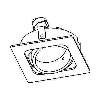 Drawing of CASVARIO50/.. - Ø80 SYSTEM, inbouwcassette - richtbaar - zonder transfo