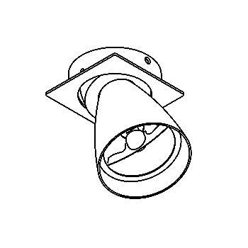 Drawing of CASVOLTA.AR70/.. - SCS SYSTEM, inbouwcassette - vierkant - richtbaar - zonder transfo