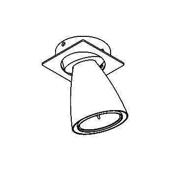 Drawing of CASVOLTA.ES63/.. - SCS SYSTEM, inbouwcassette - vierkant - richtbaar