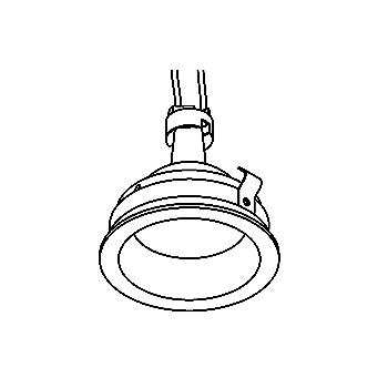 Drawing of CASYOKO/.. - Ø70 SYSTEM, inbouwcassette - vast - zonder transfo
