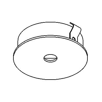 Drawing of CASZENO35/.. - Ø65 SYSTEM, inbouwcassette voor spot of pendel - rond - zonder transfo