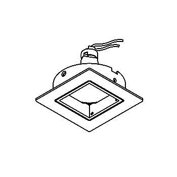 Drawing of CASZORBA.DICRO/.. - SCS SYSTEM, inbouwcassette - vierkant - vast - zonder transfo
