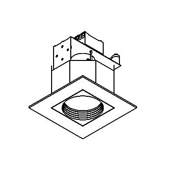 Drawing of COCO.ES50/.. - Ø80, inbouwspot - vierkant - vast - tweede kleur binnenplaat