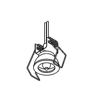 Drawing of D33/.. - DOWNLIGHT Ø30, inbouwspot voor verandaprofielen - rond - zonder transfo