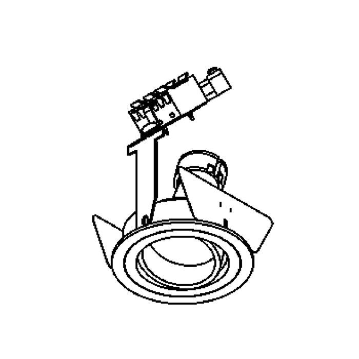Drawing of DISCO.ES50/.. - Ø70, inbouwspot - rond - richtbaar