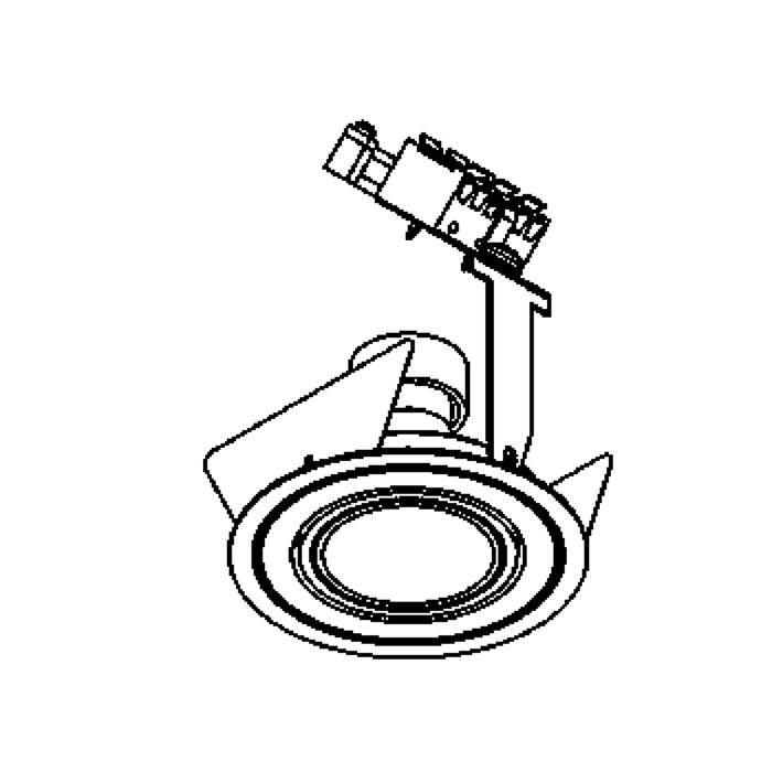 Drawing of DIVA50.ES50.LN/.. - Ø80 PUNCHED, inbouwspot geponst - rond - richtbaar