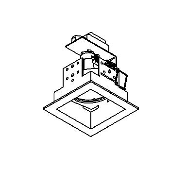Drawing of FOX.DIR.ES50/.. - 70x70, inbouwspot - vierkant - richtbaar