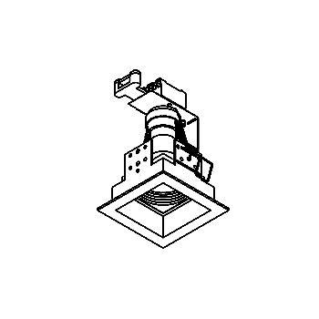 Drawing of FOX.FIX.ES50/.. - 70x70, inbouwspot - vierkant - vast