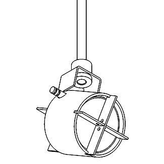 Drawing of HI.6720/.. - SATURNO 230V, opbouwspot M10 - rond