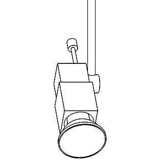 Drawing of HI.7120/.. - CAPRI 230V, opbouwspot M10 - richtbaar