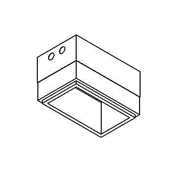 Drawing of INSERTBOX2C/.. - SCS SYSTEM, boîtier d'encastrement - carré