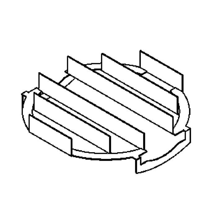 Drawing of L1/.. - LAVA - ETNA, accessoires voor grondspot - louver