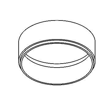 Drawing of PICODOWNRING/.. - Ø80, supplement - rond