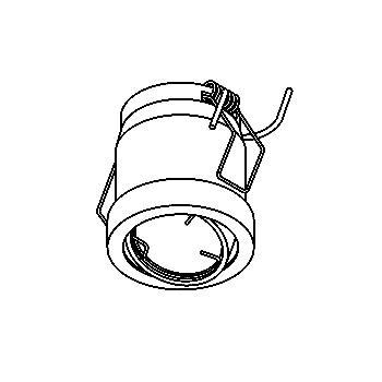 Drawing of RIO35/.. - Ø48-49, inbouwspot voor verandaprofielen - rond - richtbaar - zonder transfo