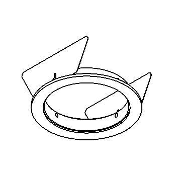 Drawing of ROUNDBASEUSA/.. - Ø80 SYSTEM, inbouwbasis voor cassette - rond