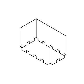 Drawing of S15/.. - BOX, inbouwdoos - te combineren met S10.198