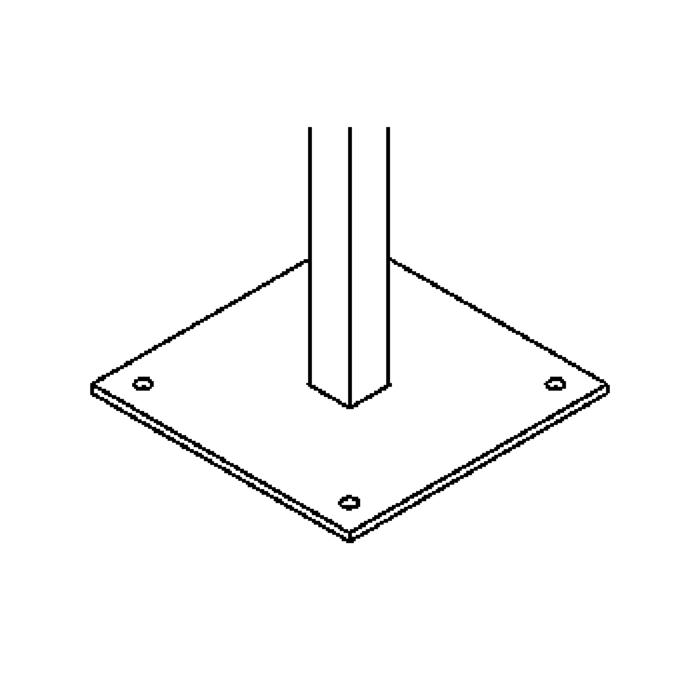Drawing of S302/.. - PIEDRO, accessories for garden lighting - base