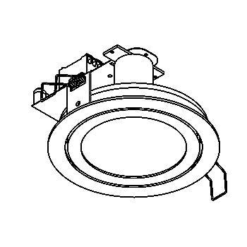 Drawing of SCOOPNODOT/.. - Ø123, inbouwspot - rond - vast