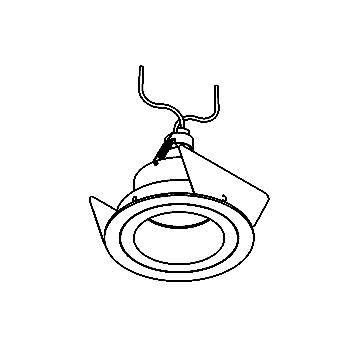 Drawing of SIRA50M/.. - Ø80, downlight - round - fixed - without transformer