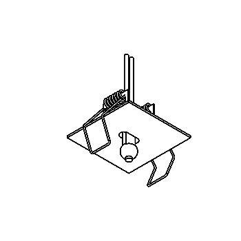 Drawing of ST50X50/.. - STARLIGHT Ø30, inbouwspot voor verandaprofielen - vierkant - zonder transfo
