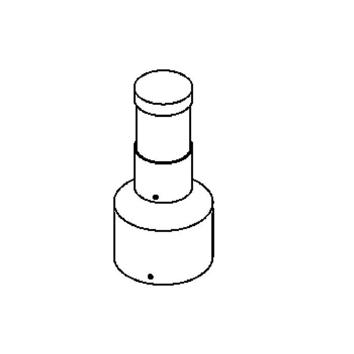 Drawing of T1001F/.. - IRIS, Pollerleuchte - mit Trafo