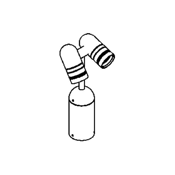 Drawing of T1043.100/.. - RYTA, tuinpaal - richtbaar - down - met LED driver