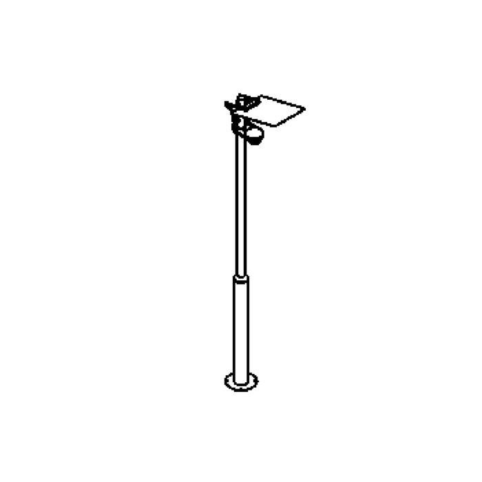 Drawing of T1206.A/.. - VOLARE, mastverlichting/lantaarn - richtbaar - met electronische ballast