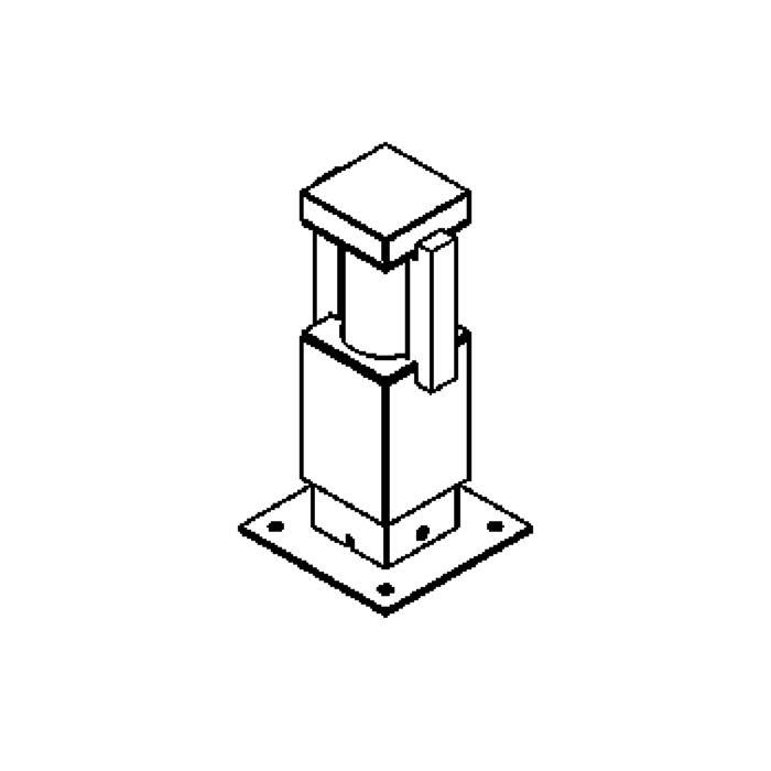 Drawing of T300.250/.. - PORTO, tuinpaal - standaard gezandstraald wit glas