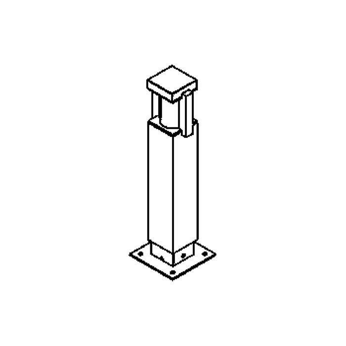 Drawing of T300.450/.. - PORTO, tuinpaal - standaard gezandstraald wit glas