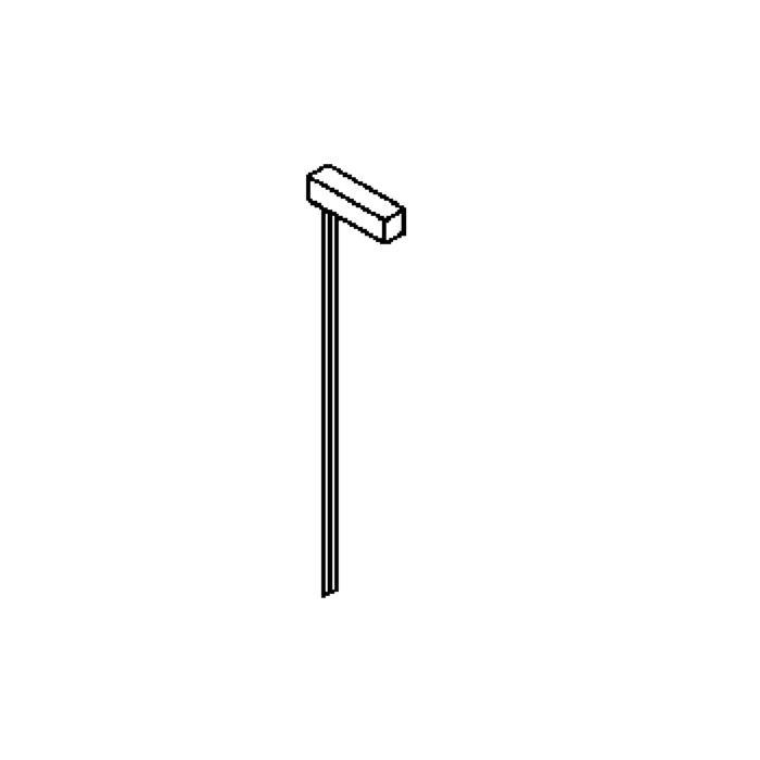 Drawing of T302.1000/.. - PIEDRO, tuinpaal met grondpin - vast