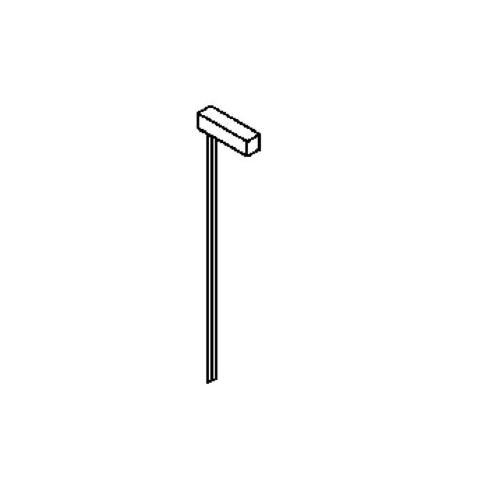 Drawing of T302.700/.. - PIEDRO, tuinpaal met grondpin