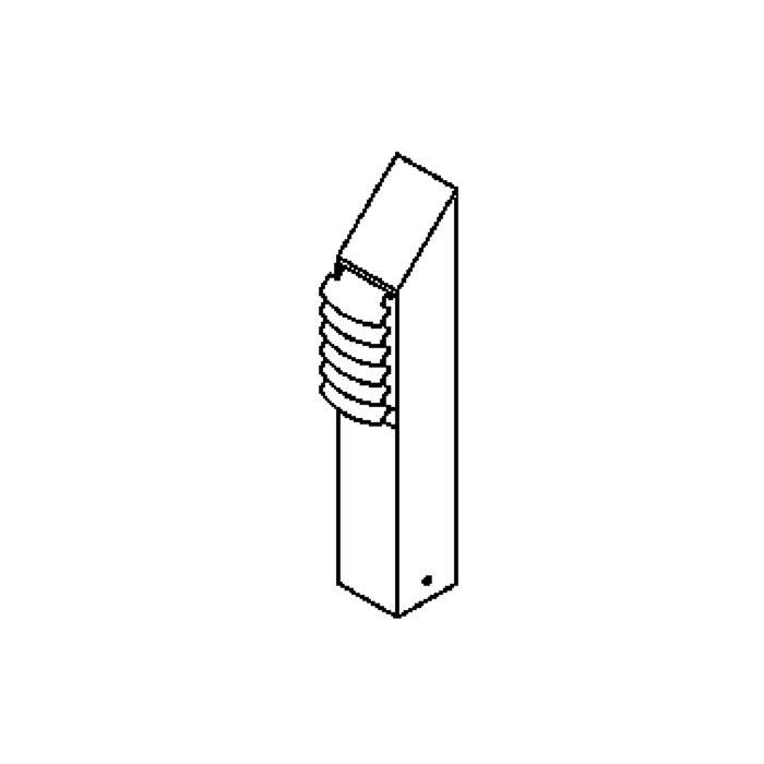 Drawing of T460.ES50.400/.. - DELIA, tuinpaal - vast