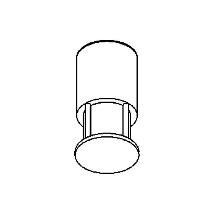 Drawing of T500/.. - CONSUL, plafondverlichting - rond - vast