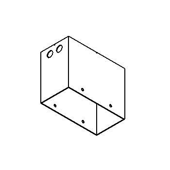 Drawing of FRAME2BBOX/.. - SCS SYSTEM, toebehoren - vierkant - ingietdoos voor Frame2B