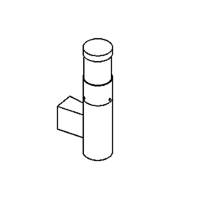 Drawing of W1057F/.. - IRIS, opbouw wandlicht - met transfo
