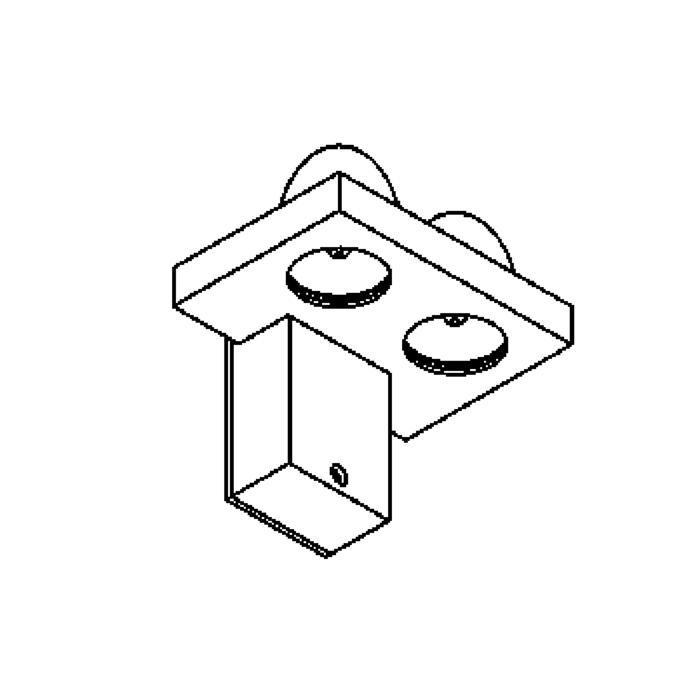 Drawing of W1081/.. - DROP, opbouw wandlicht - down - met transfo