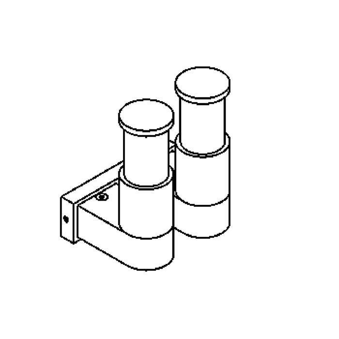 Drawing of W1095.UP/.. - BOLERO, opbouw wandlicht - up
